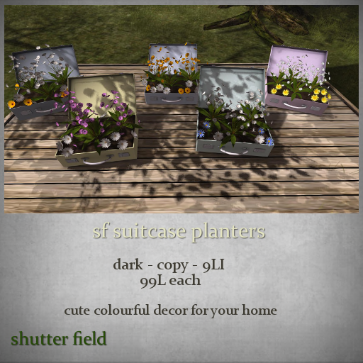 sf suitcase planters - dark - ad